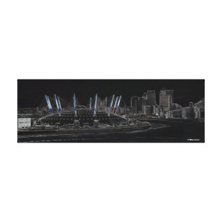 London The Dome & Canary Wharf Canvas Print