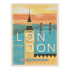 London - The Square Mile Postcard at Zazzle