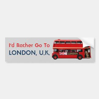 London Themed Bumper Sticker