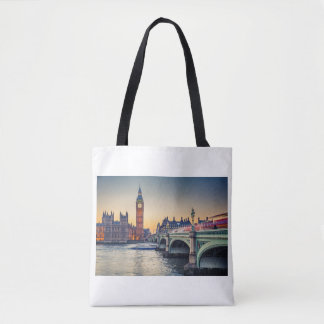 London Themed Tote Bag
