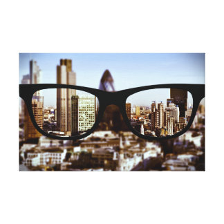 London through Sapio glasses Gallery Wrapped Canvas