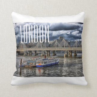 London Throw Pillow - River Thames