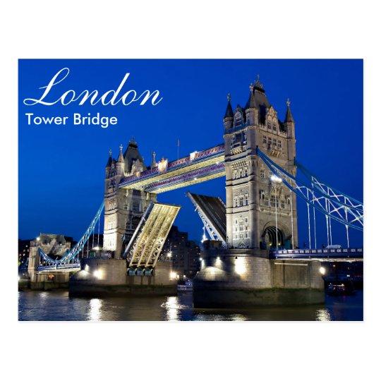 London - Tower Bridge at night postcard