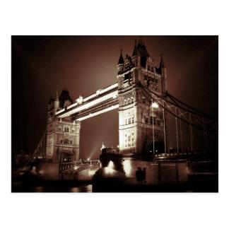 London Tower Bridge at Night Postcard