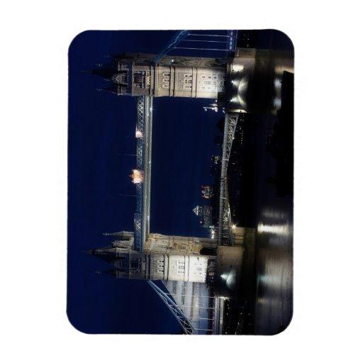 London, Tower Bridge at night Vinyl Magnet