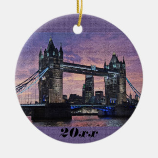London Tower Bridge Christmas Ornament