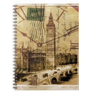 London Tower bridge clocktower big ben Spiral Notebook