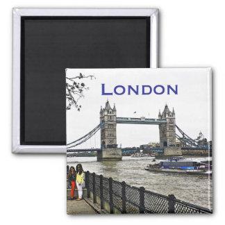 London Tower Bridge Square Magnet