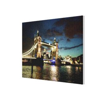 London Tower Bridge Rain Canvas Print