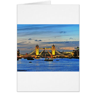 london tower bridge raised card