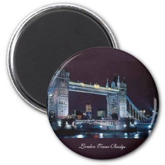 London Tower Bridge - Round Magnet
