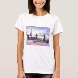 London Tower Bridge with The Shard at dusk T-Shirt