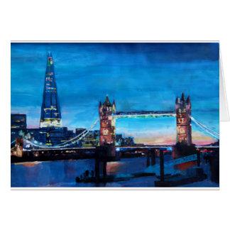 London Tower Bridge with The Shard Greeting Card