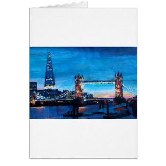 London Tower Bridge with The Shard Greeting Card