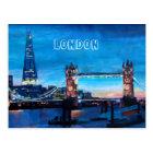 London Tower Bridge with The Shard Postcard