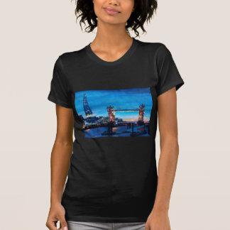London Tower Bridge with The Shard Tshirt