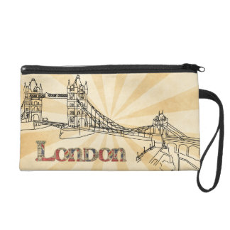 London Tower Bridge Wristlet Cosmetics Bag
