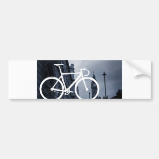 London Track Bicycle Bumper Sticker