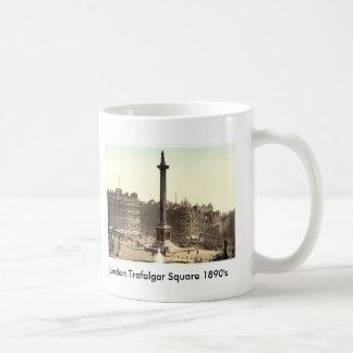 London Trafalgar Square 1890 s Coffee Mugs