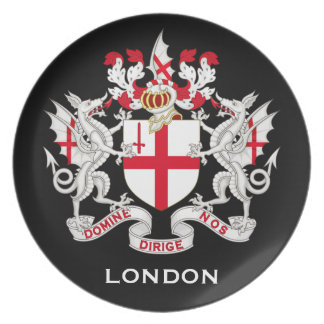 London, UK Coat of Arms Plate