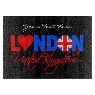 London UK custom cutting board
