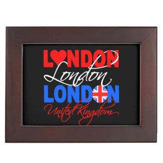London UK custom keepsake box