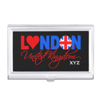 London UK custom monogram business card holder