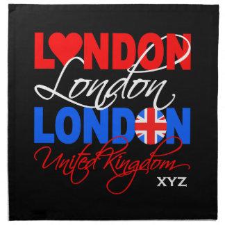 London UK custom monogram cloth napkins