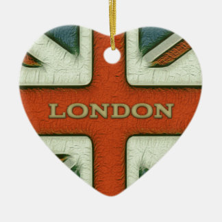 London UK Flag Christmas Ornament