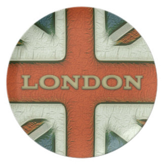 London UK Flag Dinner Plates