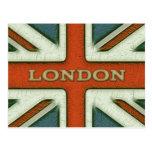 London UK Flag Postcard