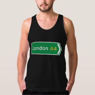 London, UK Road Sign Tank Top