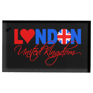 London UK table card holder