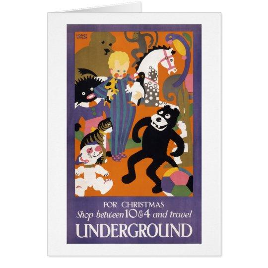 London Underground Vintage Transportation Poster Card