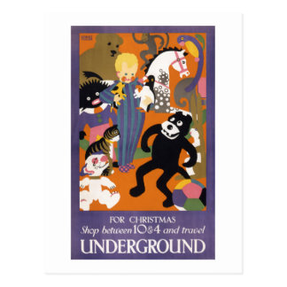 London Underground Vintage Transportation Poster Postcard