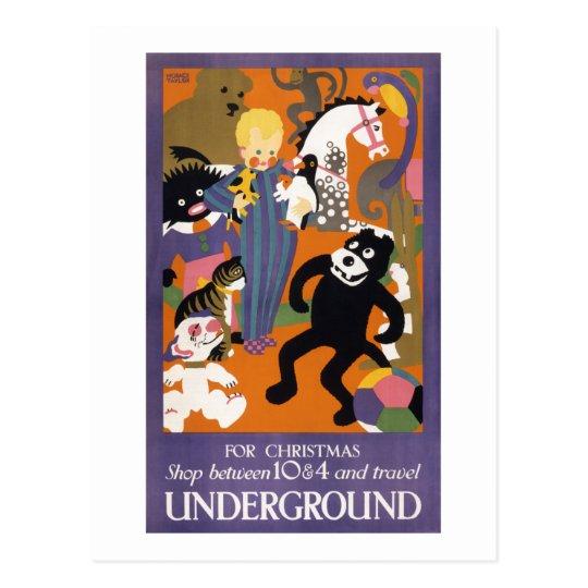 London Underground Vintage Transportation Poster Postcard