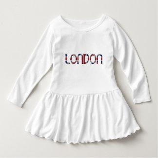London Union Jack British Flag Typography Elegant Dress