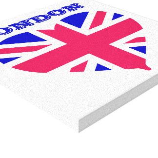 London Union Jack Stretched Canvas Print