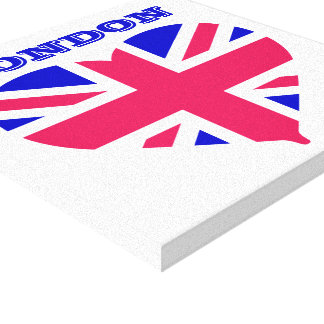 London Union Jack Stretched Canvas Print