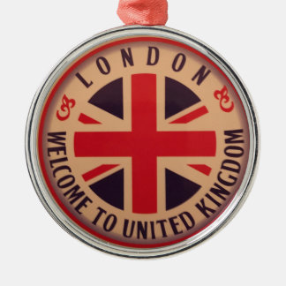London - Union Jack - Welcome to United Kingdom Christmas Ornament