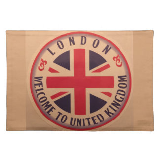 London - Union Jack - Welcome to United Kingdom Placemat