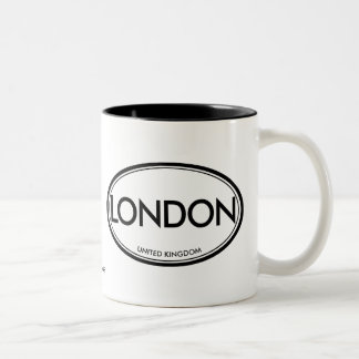 London, United Kingdom Two-Tone Coffee Mug