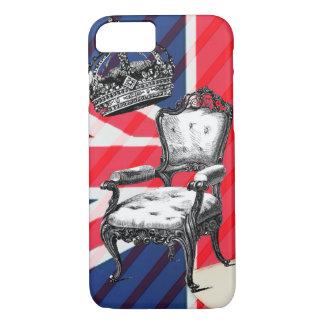 London victorian chair jubilee crown union jack iPhone 8/7 case
