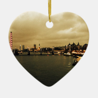 London view christmas ornament