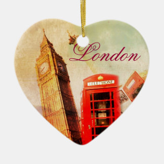 London vintage christmas ornament
