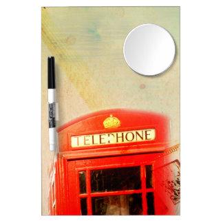 London vintage dry erase board with mirror