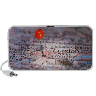 LONDON Vintage Map Doodle Portable Speakers
