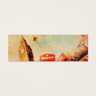 London vintage mini business card