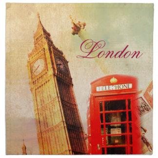 London vintage napkin