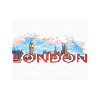 London Vintage Stretched Canvas Print
